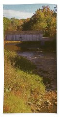 Comstock Covered Bridge Beach Towel