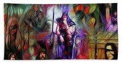Conan The Barbarian Collage - Square Version Beach Towel