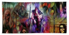 Conan The Barbarian Collage - Square Version Beach Sheet