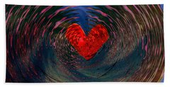 Beach Towel featuring the digital art Concentric Love by Linda Sannuti