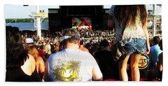 Concert Crowd Beach Towel