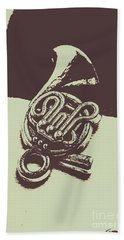 Concert Of A French Horn Beach Towel