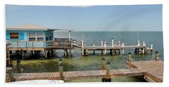 Conch Key Blue Cottage Beach Towel
