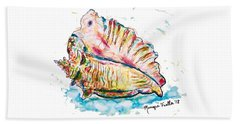 Beach Towel featuring the painting Conch Shell by Monique Faella