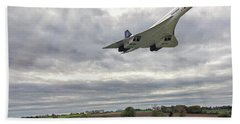 Beach Towel featuring the photograph Concorde - High Speed Pass by Paul Gulliver