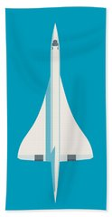 Concorde Jet Airliner - Cyan Beach Towel