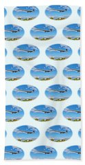 Concorde On Finals - Tiled Beach Towel
