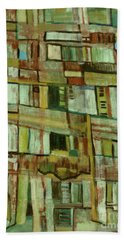 Beach Towel featuring the painting Condo by Paul McKey