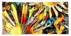 Cone Flower Dream I Beach Towel by Jack Torcello