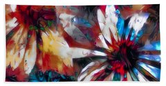 Cone Flower Fantasia I Beach Towel by Jack Torcello