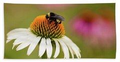 Coneflower And Bee Beach Sheet