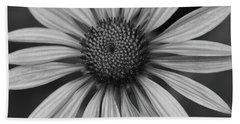 Coneflower In Black And White Beach Sheet