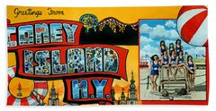 Coney Island New York Beach Towel