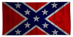 Confederate Flag Barn Door Beach Sheet