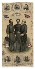 Confederate Generals Of The Civil War Beach Towel