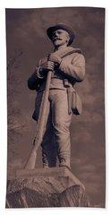 Confederate Statue  Standing Guard Beach Sheet