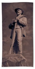 Confederate Statue  Standing Guard Beach Sheet