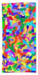 Beach Towel featuring the painting Confetti by Denise Fulmer