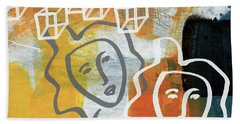 Conflicting Emotions Beach Towel
