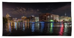 Confluence At Night Beach Towel