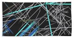 Beach Towel featuring the digital art Confused by Visual Artist Frank Bonilla
