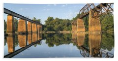 Congaree River Rr Trestles - 1 Beach Towel