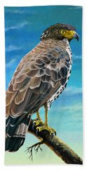 Congo Serpent Eagle Beach Towel by Anthony Mwangi
