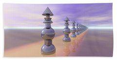 Conical Geometric Progression Beach Sheet by Phil Perkins