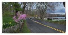 Beach Sheet featuring the photograph Connecticut Country Road by Bill Wakeley