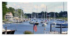 Connecticut Harbor Town Beach Towel