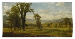 Connecticut River Valley, Claremont, New Hampshire Beach Towel