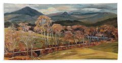 Connecticut River Valley View From Newbury Vermont Beach Towel by Nancy Griswold
