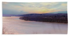 Connecticut River View From Gillette Castle. Beach Towel