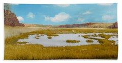 Connecticut Salt Water Marsh Beach Towel