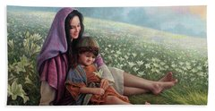Beach Towel featuring the painting Consider The Lilies by Greg Olsen