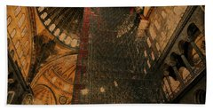Construction - Hagia Sophia Beach Towel by Jim Vance