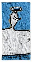 Contemplating My Act Beach Sheet by Mario Perron