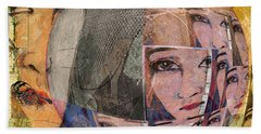 Contemplating Women - Through The Looking Glass Beach Towel by Jeff Burgess