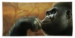Beach Towel featuring the photograph Contemplation by Lori Deiter