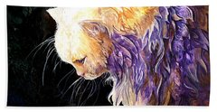Beach Towel featuring the painting Contemplation by Sherry Shipley