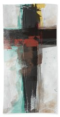 Contemporary Cross 1- Art By Linda Woods Beach Towel