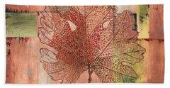Contemporary Grape Leaf Beach Towel
