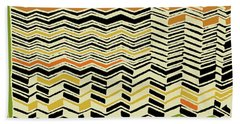 Beach Towel featuring the digital art Contemporary Kuba Cloth by Vagabond Folk Art - Virginia Vivier