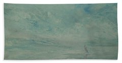 Beach Towel featuring the painting Contentment by Jane See