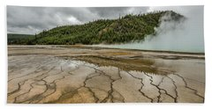 Beach Towel featuring the photograph Contrasts At Midway Geyser Basin by Sue Smith