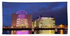 Convention Centre Dublin And Pwc Building In Dublin, Ireland Beach Towel