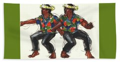 Cook Islands Ute Dancers Beach Sheet