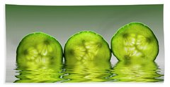 Cool As A Cucumber Slices Beach Towel