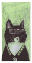 Cool Cat #2 Beach Towel