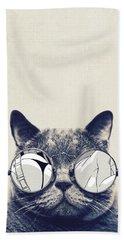 Cool Cat Beach Sheet by Vitor Costa